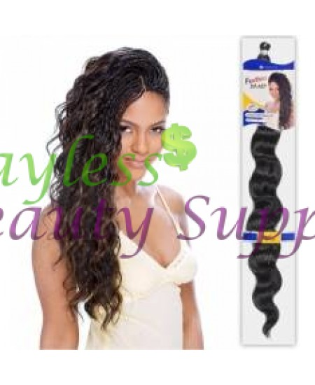 "Freetress Bulk Loose Deep 24"" Braiding Hair Synthetic"