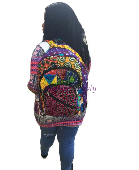 African Cloth Backpack