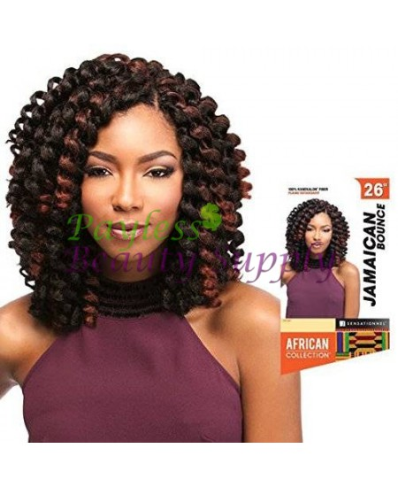 "SENSATIONNEL JAMAICAN BOUNCE 26"" AFRICAN COLLECTION CROCHET BRAID"