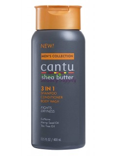 Cantu Men's 3 In 1 Shampoo/ Conditioner/ Body Wash