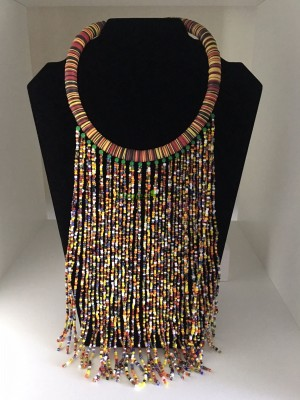 African Mixed Beads Necklace