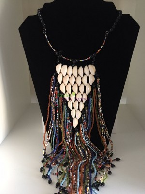 Fashion Beads tassel necklace multicoloured