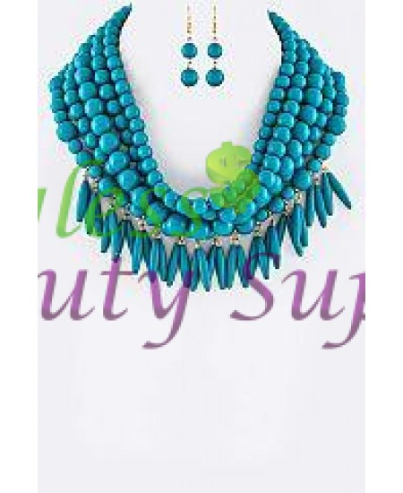 Layer Pearl Necklace Set