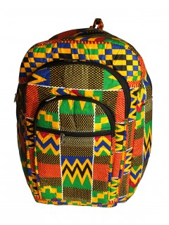 Kente Print African Backpack