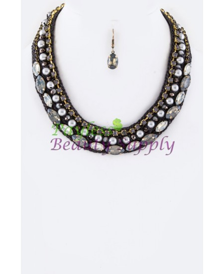 Metal colour Necklace Set