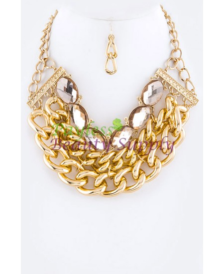 Gold colour plated Necklace Set