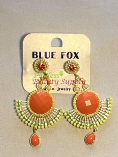 Orange And Gold Earring