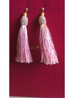 Tassel thread drop earring
