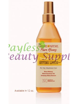 Creme of Nature Pure Honey Curl Texturizing Setting Lotion