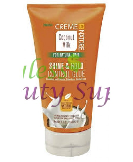Creme of Nature Certified Natural Coconut Milk Shine and Hold Control Glue