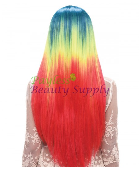 Destiny Beauty Elements Green Wig: Celebrity 28""
