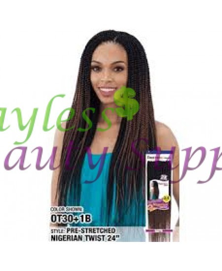 Freetress Braid 2x Nigerian Pre-Stretched Twists 24""